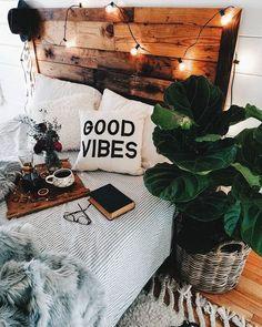 Modern bedroom with boho vibe