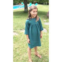 Niñas ideales 💚 #lucia #vestidaporlacasitadelpalomar #vestidomangafrancesa #online #rebajas #ss17