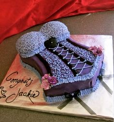 Corset Cake By sugarcoatedchicago on CakeCentral.com