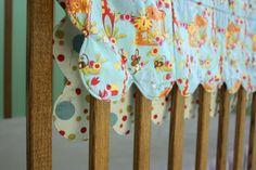 Scalloped Edge Baby Blanket # baby blanket