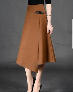 Spring Autumn Formal A-Line Long Skirt For Girls All-Match Solid Mid-Calf Bust Skirt Women's Timmiury Women Sexy Winter Wool Skirts High Waist A-line Casual Midi Skirt Gray/Khaki/Red Saia Longa 2017 Autumn Office Skirts skirt with buckle detail i hav Skirt Outfits, Dress Skirt, Sexy Outfits, Casual Outfits, Modest Fashion, Fashion Dresses, Stylish Dresses, Vintage Skirt, Blouse Vintage