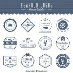 New vintage logo restaurant cas ideas Logo Restaurant, Fish And Chips Restaurant, Restaurant Ideas, Seafood Rice Recipe, Seafood Soup Recipes, Ceviche, Logo Fruit, Seafood Pizza, Seafood Bisque