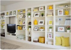 built-ins made from Billy bookcases