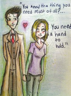 Doctor&Roce: A Hand To Hold_tenth doctor and rose fan art - Hledat Googlem