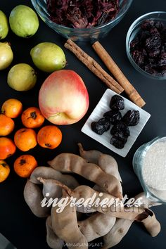 Mexican fruit punch ingredients / Ingredientes para el ponche de frutas mexicano // Casa Haus