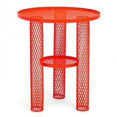 Net Side Table by Benjamin Hubert for Moroso / bright red