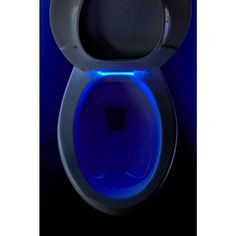 """This toilet seat includes an LED guide light on a 7-hour cycle to help you see your toilet in the dark, as well as LED """"task lighting"""" that illuminates the bowl when the lid is lifted."""