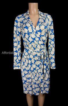 DIANE VON FURSTENBERG New Jeanne Two Wrap Dress 12 L Large Silk Floral DVF #DVF #WrapDress #WeartoWork