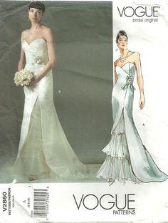Vogue 2860 Bridal Original Sewing Pattern. $12.50, via Etsy.
