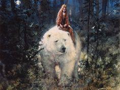 """""""Kvitebjørn Kong Valemon (White-Bear-King Valemon)"""" illustrated by Svein Solem"""