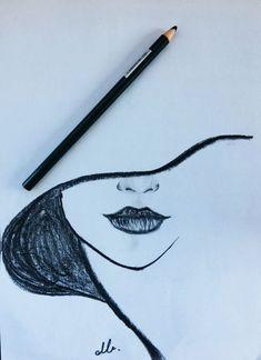 Drawing, 2019 dibujar arte, dibujos a lápiz ve cosas de dibujo. Easy Pencil Drawings, Art Drawings Sketches Simple, Cool Drawings, Drawing Ideas, Drawing Tips, Tumblr Drawings Easy, Cartoon Drawings, Easy Simple Drawings, Lip Drawings