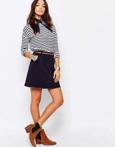 Image 1 of Esprit Button Up Mini Skirt