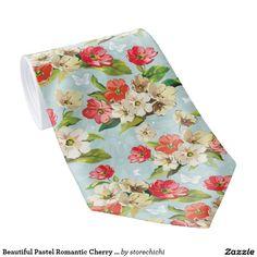 Beautiful Pastel Romantic Cherry Blossom red-cream