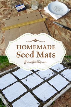 Instead of scattering seeds then thinning later, creating seed mats allows you to space out the seeds according to the suggested spacing on the back of the seed package or Square Foot Garden spacing recommendations. Seed mats or seed tapes are helpful for Organic Gardening, Gardening Tips, Vegetable Gardening, Bucket Gardening, Sustainable Gardening, Flower Gardening, Seed Packaging, Square Foot Gardening, Garden Seeds