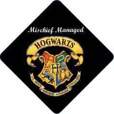 Harry Potter! Professionally Printed Graduation Cap Decorations @Elizabeth Covington OMG.