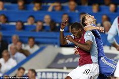 Villain to hero: Branislav Ivanovic elbowed Christian Benteke before scoring the winner, the first controversy of the season? Chelsea 2 Aston Villa 1