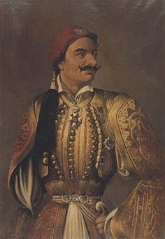Ioannis Doukas portrait of Theodorakis Grivas Greek Independence, Exotic Art, Greek History, Greek Clothing, Folk Costume, Artist Painting, Paris Fashion, Mona Lisa, Auction