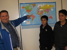The school principal points to the home country of the students on the map Students, Map, Country, School, Rural Area, Location Map, Maps, Country Music