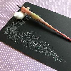 Flourish-a-doodlin' 💜 #calligraphysg #calligraphy #zillers #dippen #pointedpen #derwent #flourishing