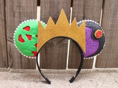 Evil Queen-Inspired Mouse Ear Headband with by ModernMouseBoutique