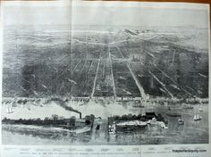 Bird's eye views, like this one of Philadelphia, PA in 1876, often feature architectural detail and topographic landforms.  Antique Maps and Charts – Original, Vintage, Rare Historical Antique Maps, Charts, Prints, Reproductions of Maps and Charts of Antiquity