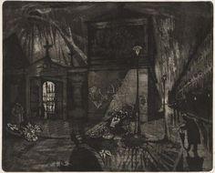 """Hans Körnig, """"Totensonntag"""", 1961, Radierung (Aquatinta)"""