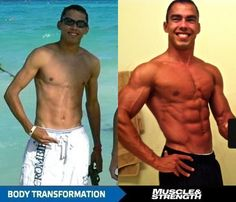 Body transformation...Chris McGlynn packs on 30 pounds of muscle.