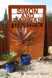 Personalised garden screens with your lettering