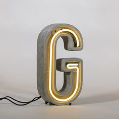 Néon Alphacrete Table lamp - Letter G - Indoor / outdoor G by Seletti - Design furniture and decoration with Made in Design