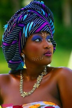 Beautiful African head wrap #Gele #Kente #Ankara #Africanfashion #Nigerianfashion #Ghanaianfashion #Kenyanfashion #Burundifashion #senegalesefashion #Swahilifashion ~DK
