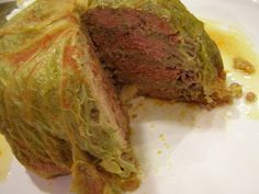 chou farci: stuffed whole cabbage