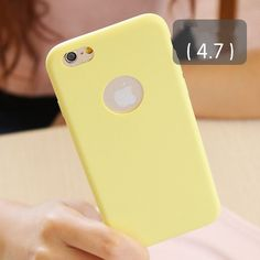 """Solid Candy Color Matte Skin Case for iPhone 6 TPU Soft Back Cover for Apple iPhone 6S 6 S New Upgraded Phone Case 4.7"""""""