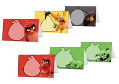 Angry Birds Movie Food Tents / Place Card Holders. Instand Download 6 Unique…