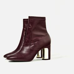 Image 4 of HEEL DETAIL ANKLE BOOTS from Zara
