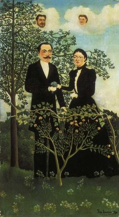 The Present and the Past or Philosophical Thought by Henri Rousseau