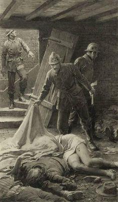 Fortunino Matania French Murder, 1910s