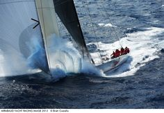 Photo by Brett Costello - Super maxi Wild Oats X1 during its record breaking 2012 Sydney Hobart Yacht Race