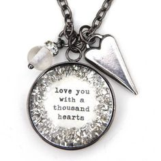 Love You With A Thousand Hearts Necklace - $25.99. https://www.bellechic.com/products/133c9fb29e/love-you-with-a-thousand-hearts-necklace