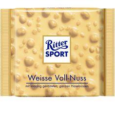 RITTER SPORT Weisse Voll-Nuss Schokolade