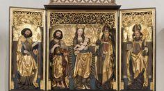 Altar, Kirche Pouch, um 1480, Strasse der spätgotischen Schnitzaltäre