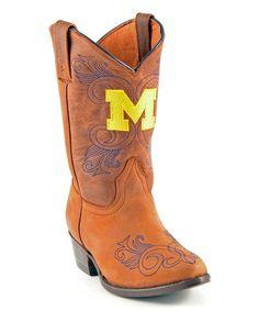 Michigan Wolverines Cowboy Boot - Toddler & Kids