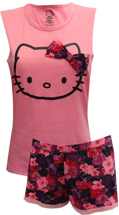 WebUndies.com Hello Kitty Pretty Petals Shortie Pajamas