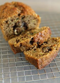 [Mini] Gluten-free Zucchini-Nut Bread  Made this today.  SO good!  I added raisins to mine and made sure the nuts were chopped fine so the kids wouldn't see them;).  I also made the batter into muffins and got two dozen muffins (I used Jules flour).  Cooked for 20 minutes.  My kids ate them up!