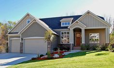 Just the Right Size - 73272HS   1st Floor Master Suite, Butler Walk-in Pantry, CAD Available, Craftsman, Media-Game-Home Theater, Northwest, PDF, Photo Gallery, Sloping Lot, Split Bedrooms   Architectural Designs