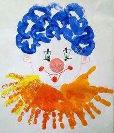 Clown craft idea for kids Kids Crafts, Clown Crafts, Circus Crafts, Carnival Crafts, Circus Art, Circus Theme, Preschool Crafts, Projects For Kids, Diy For Kids