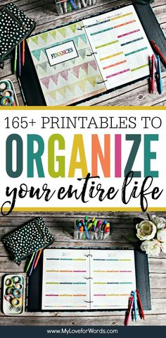 Getting organized just got easier! This printable planner is perfect for organizing your time daily weekly and monthly activities cleaning routine meal planning finances kids pets passwords contacts and more! Planner Pages, Life Planner, Happy Planner, Organized Planner, Binder Planner, 2015 Planner, Blog Planner, Life Binder, Planer Organisation