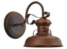 wall mounted brass lamp