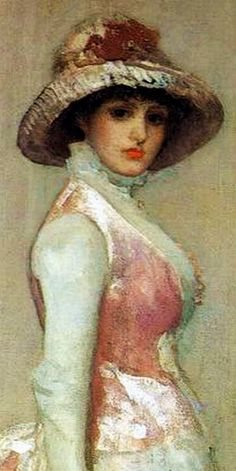 """Harmony in Pink and Grey: Portrait of Lady Meux"" by James Whistler"