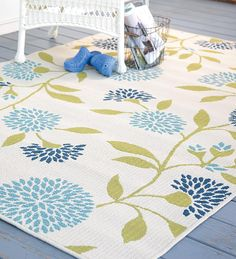 Add this striking, easy care Outdoor Surry Rug for a pop of color in any space—outdoors or in.
