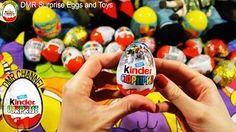 30 Surprise Eggs, Kinder Surprise Cars 2 Thomas Spongebob Disney Pixar - YouTube